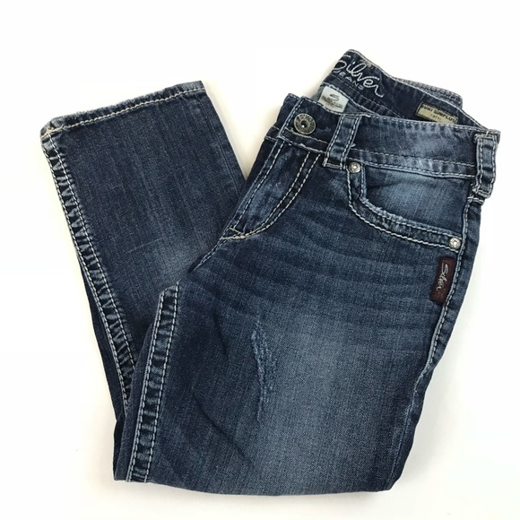 Silver Jeans Denim - Silver Jeans Womens Suki Surplus Capri Size W25